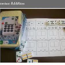 Free Domino addition mats ~ First Grade School Box: Math Centers Special Education Classroom, Math Classroom, Kindergarten Math, Teaching Math, Classroom Ideas, Preschool, Teaching Ideas, Math For Kids, Fun Math