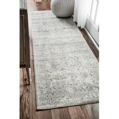 Maison Rouge Gibran Vintage Floral Ornament Ivory Rug Rug x (Grey), Size x (Polypropylene, Abstract) Cream Area Rug, White Area Rug, Blue Area, Rug Runners, Stair Runners, Hallway Runner, Reno, Grey Rugs, Online Home Decor Stores