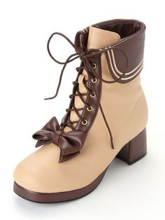 60 Beige Shoes That Always Look Fantastic Kawaii Shoes, Kawaii Clothes, Cute Shoes, Me Too Shoes, Heeled Boots, Shoe Boots, Dress Boots, Men's Boots, Mode Lolita