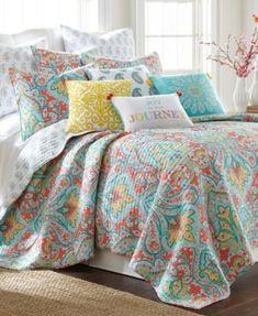 Paisley Bedding, Aqua Bedding, Colorful Bedding, Cute Bedding, Quilt Bedding, Twin Quilt, Small Master Bedroom, Bedroom Bed, Bedroom Decor