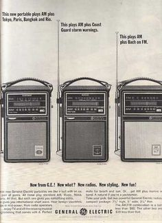 General Electric's Portable Radios (1964)  My sister had one of these w/ SW band.