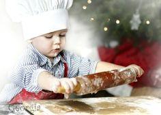 Christmas baking...my grandsons & I baking.