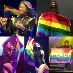 Fifth Harmony and the Gay Pride Flag