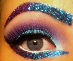#neon #glitter #makeup