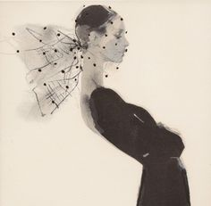 Veil by David Downton blank greeting card ADD-6