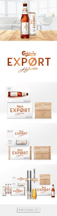Carlsberg EXPØRT Rebrand by Steven Yendole. Source: Daily Package Design Inspiration. Pin curated by #SFields99 #packaging #design #inspiration #ideas #rebrand #beer #alcoholic beverages
