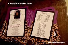 Cheetah Quinceanera Invitations, Leopard quinceanera invitations
