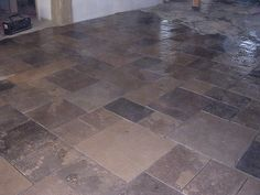 flagstone floor Flagstone Flooring, Floors, Tile Floor, Spaces, Interior, Kitchen, Home Tiles, Cooking, Design Interiors