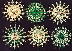 """Baumschmuck: Stroh - 6 Strohsterne im Set """"Sirius grün 16-02"""" - ein Designerstück von Strohsterne bei DaWanda"""