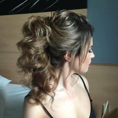 Cascading Curly Ponytail