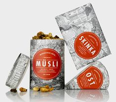 Nice illustrated packaging for a Swedish fresh food company -  Middagsfrid
