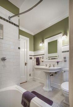 Bungalow Basement Renovation Ideas 2 - HomeCoach - Before After DIY Bungalow Bathroom, Small Bathroom, Retro Bathrooms, Bathrooms Remodel, Craftsman Bathroom, Bathroom Design, Bathroom Renovations, Basement Renovations, Bungalow Renovation