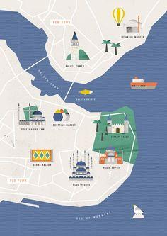 Noémie Cédille - Map of Istanbul