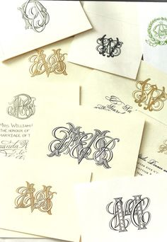 Monograms from Victoria magazine