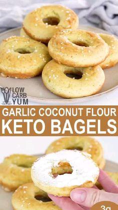 Low Carb Bagels, Keto Bagels, Low Carb Keto, Low Carb Recipes, Healthy Recipes, Keto Bread, Low Carb Menus, Low Carb Flour, Low Carb Bread