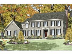Eplans Traditional House Plan - Four Bedroom Traditional - 3747 Square Feet and 4 Bedrooms from Eplans - House Plan Code HWEPL65387