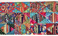 Naamtekening met stift. Gemaakt door groep 8 van obs de Wilgenhoek uit Haarlem