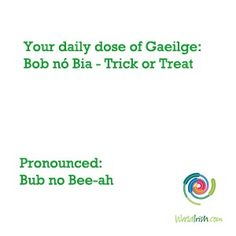 Just in time for Halloween it's the Irish term for 'Trick or Treat' Gaelic Words, Irish Language, World Languages, Irish Eyes, Welsh, Travel Accessories, Celtic, Need To Know, Ireland