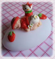 Petite veilleuse sur le thème fraise