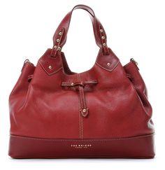 wardow.com - #TheBridge, Ofelia Handtasche Leder rot 37 cm, #marsala, #trend