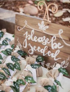 Rustic Summer Wedding at The Ranch at Little Hills - Style Me Pretty Modern Wedding Favors, Unique Weddings, Wedding Table, Wedding Decorations, Wedding Ideas, Seed Wedding Favors, Wedding Rustic, Wedding Receptions, Wedding Escort Card Ideas