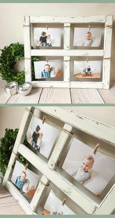 LOVE this rustic window picture frame!!   Window Frame - Old Window - Rustic Home Decor - Picture Frame - Window - Wood Wall Art - Wood Frame - rustic gift idea - Farmhouse Decor - 4x6 Picture Frame #ad