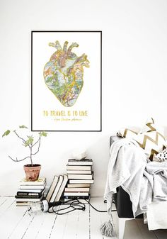 To Travel Is To Live Travel Quote Print by PrintasticStudio