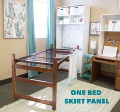Finally a bed skirt designed especially for a dorm bed! Our bed skirts tie onto the mattress springs to give you a perfect length every time. Dorm Decor offers a variety of dorm bedding, bed skirts, headboards, throw pillows, and dorm room accessories! College Dorm Rooms, College Dorm Bedding, College Life, Dorm Bed Skirts, Dorm Room Accessories, Mattress Springs, White Paneling, My New Room, Dorm Decorations