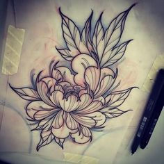 Pin by tiffany schumacher on tattoo tattoo sketches, tattoos, japanese flow Rose Tattoos, Leg Tattoos, Body Art Tattoos, Tattoo Sketches, Tattoo Drawings, Peony Drawing, Lotus Drawing, Lotus Flower Drawings, Neotraditional Tattoo