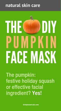 DIY Pumpkin Face Mask from birdybotanicals.com. DIY skincare, beauty and spa. DIY skincare, beauty and spa