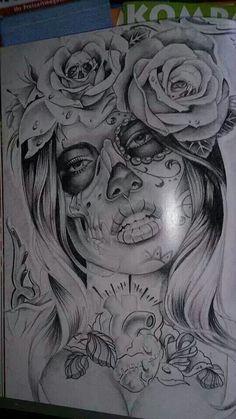 La catrina tattoo Design