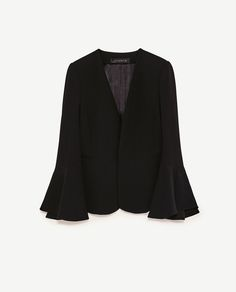 Image 8 of BELL SLEEVE JACKET from Zara