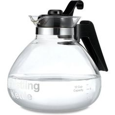 Medelco 1-WK112-BL-4 12-Cup Glass Stovetop Whistling Kettle $11