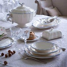 Gien Filets Bleus Dinnerware   Artedona.com