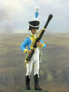 Bassoon player-year 1810 hand made zinc figure. The 3rd Grenadier regiment. Old Guard 1805-1810