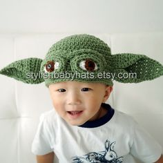 Yoda hat Star Wars hat Crochet Yoda Hat Crochet by stylishbabyhats