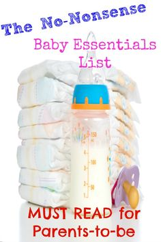 """The No-Nonsense Baby Essentials List - A. - The No-Nonsense Baby Essentials List Here's a real baby essentials list -- the bare minimum you need to get by! Though I do throw in some of my favorite """"non-essentials"""" at the end! Getting Ready For Baby, Preparing For Baby, Baby On The Way, Our Baby, Baby Baby, Baby Newborn, Baby Girls, Baby Needs, Baby Love"""