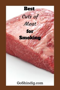 Generally speaking the best cuts of meat for smoking are the cheapest, fattiest and toughest. These cuts of meat can tolerate the low and slow cook giving perfection to a tender piece of meat with… Smoker Grill Recipes, Smoker Cooking, Grilling Recipes, Cooking Brisket, Oven Recipes, Brisket Recipe Smoker, Egg Recipes, Electric Smoker Recipes, Brisket Meat