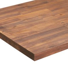 Sparrow Peak 6-ft Spice Stained Straight Butcher Block Acacia Kitchen Countertop in the Kitchen Countertops department at Lowes.com Butcher Block Kitchen, Butcher Block Wood, Butcher Block Cutting Board, Laundry Room Folding Table, Potting Tables, Kitchen Countertops, Diy Butcher Block Countertops, Kitchen Cabinets, Earth