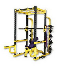 All American Free Weight Laser Power Rack Station