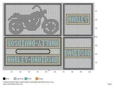 TISSUE COVER FAMILY SIZE HARLEY DAVIDSON MOTORCYCLE by TRICIA