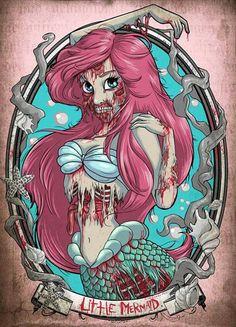 Zombie Ariel tattoo