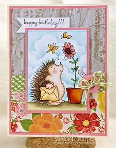 Happy Birthday Hedgie Handmade Greeting Card. $5.25, via Etsy.Penny Black