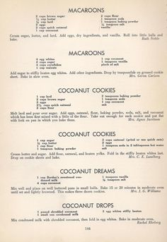 Vintage Cookies Recipes From 1940 (old fashioned sugar cookie recipes) Retro Recipes, Old Recipes, Vintage Recipes, Cookbook Recipes, Baking Recipes, Recipies, Family Recipes, Homemade Cookbook, Cookbook Ideas