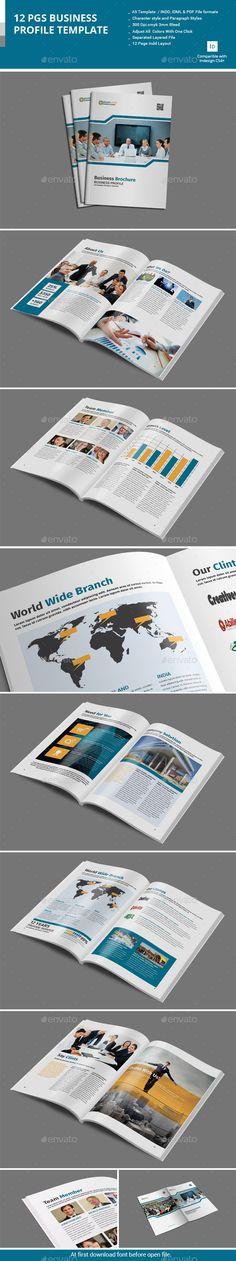 Corporate Business Brochure Template #design Download   - business profile template