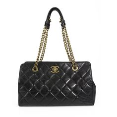 This chic tote bag from CHANEL is crafted of black distressed leather and  features a clasic CC antique ... dff44db797