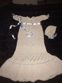 Dåpskjole med lue