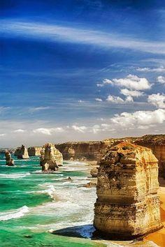 The twelve apostles landmark of Australia