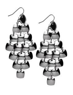 Square Disc Chandelier Earrings - Women's Jewelry & Plus Size Jewelry - eloquii by The Limited