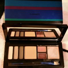 """MAC Enchanted Eve Set! Its perfect especially if your """"on the go"""" a lot! Grab this & your compact (foundation) & youre all set! *sanitized* Note: This was very limited edition. Neutral colors. Someone will LOVE this. Paid quite a bit MAC Cosmetics Makeup Eyeshadow"""